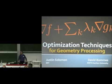IGS'16 Summer School: Optimization in Geometry Processing