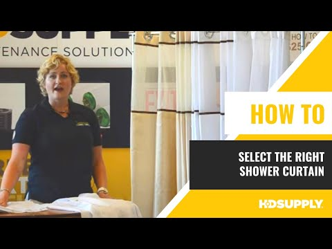 Selecting The Right Shower Curtain - HD Supply Facilities Maintenance