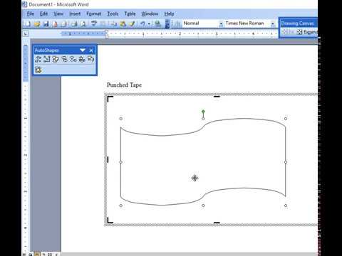 How to Draw Punched Tape Shape in MS Word