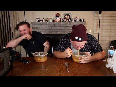 SPEED EATING HOT NOODLE CHALLENGE
