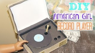DIY American Girl Record Player! || SewCraftyAG
