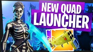 THE NEW QUAD LAUNCHER is HERE! - Fortnite Quad Launcher Gameplay & Best Use Scenario