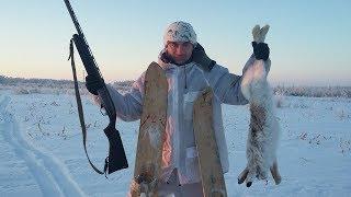 Охота на зайца в деревне. Добыл двух Русаков за один день!!!