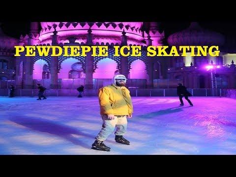 PEWDIEPIE ICE SKATING