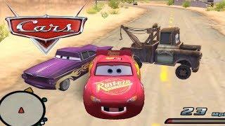 Disney Pixars Cars Movie Game - Crash Mcqueen 66 - Backwards Driving