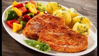 Мясо. Корейка свиная запеченая в духовке со сметанным соусом