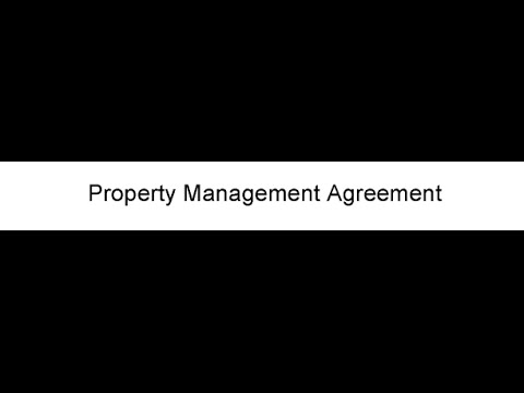 Property Management Agreement  Youtube