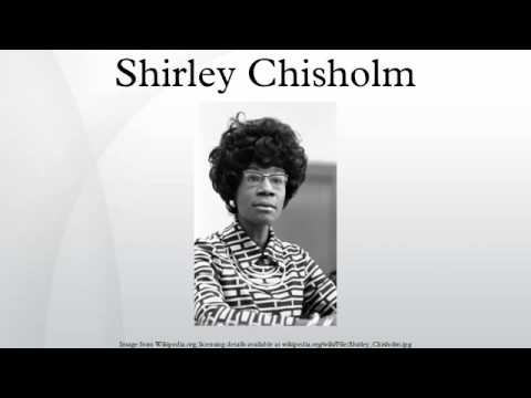the life of shirley chisholm Shirley anita chisholm (née st hill november 30, 1924 – january 1, 2005) was an american politician, educator, and author in 1968, she became the first black.