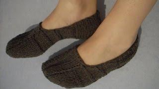 Repeat youtube video №2 Papuci de camera tricotati cu andrele