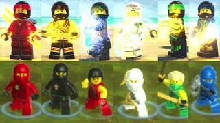 The LEGO Ninjago Movie Video Game vs LEGO Ninjago: Shadow of Ronin - All Main Ninjago Characters