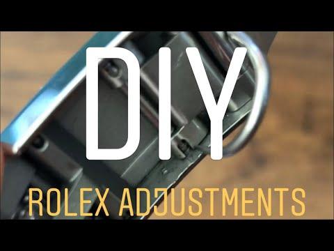 Adjusting Rolex oyster bracelet, removing Rolex links, using Rolex clasp micro adjustments & EZ link