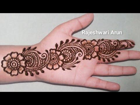 Simple Arabic Mehndi Designs For Fullhands By Rajeshwari Arun Mehndi Designs Easy 2020 Youtube
