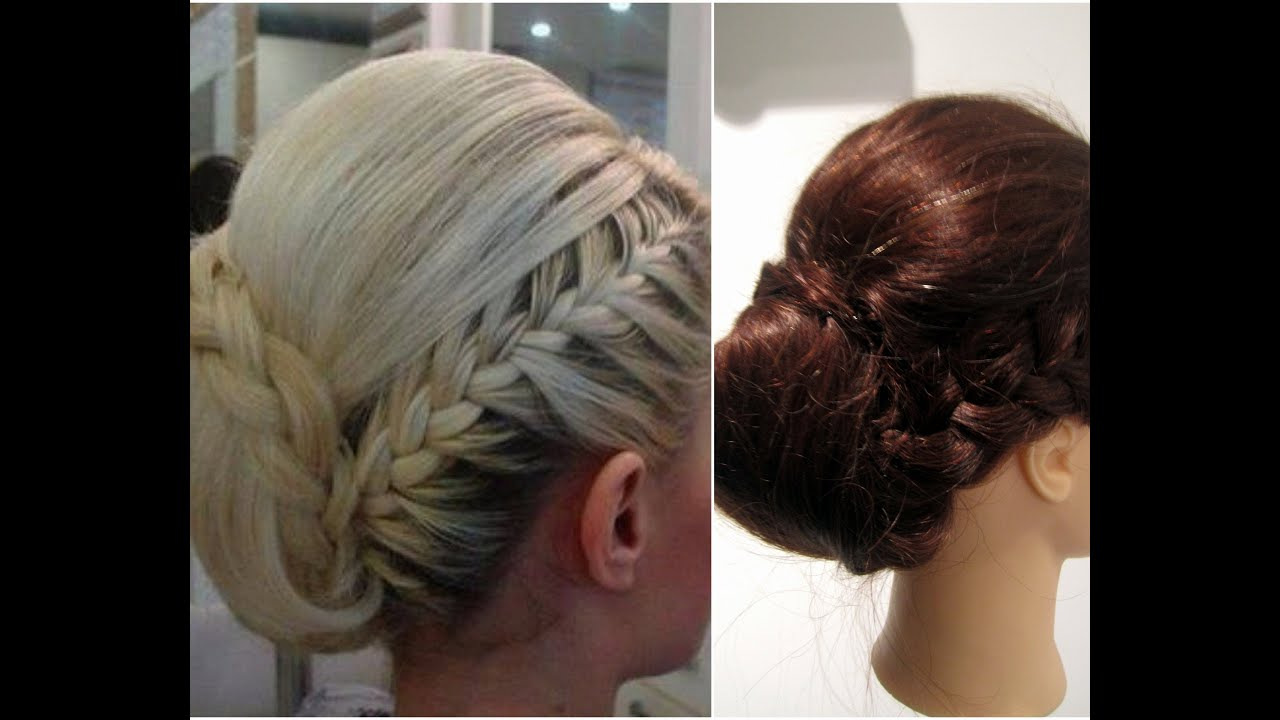How To Elegant Braided Updo Youtube