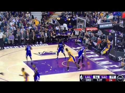 37 Year Old Kobe Bryant scores 28pts on the Sacramento Kings 1/8/16