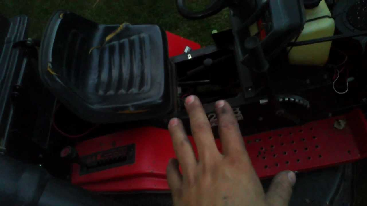 MTD riding mower Troubleshooting - YouTube on