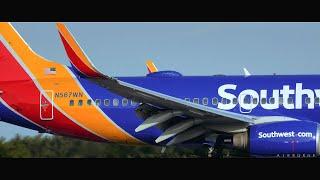"""Southwest """"Heart"""" B737 Fast Approach"""