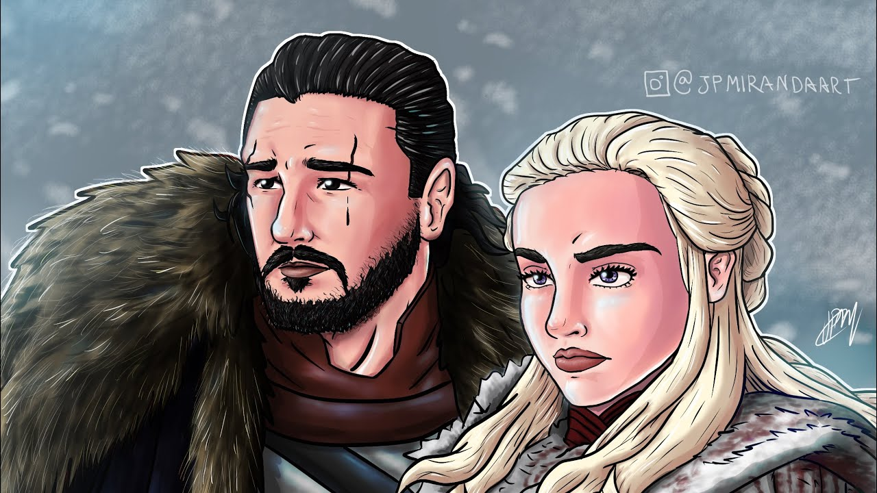 Desenho Do Jon Snow Daenerys Targaryen Fanart De Game Of Thrones