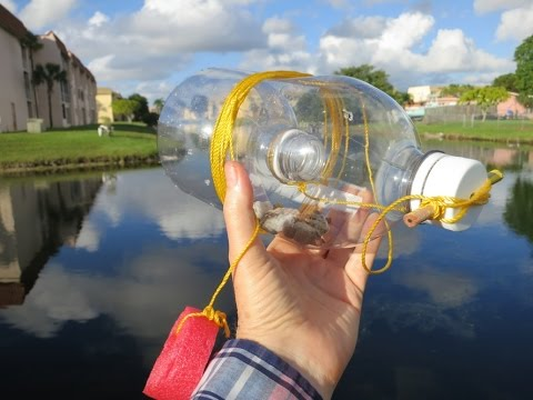 how to make a bottle trap for fish