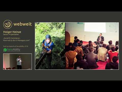 """Social E Commerce - how not to do it"" - Fuck up Speech by Holger Heinze (webweit)"