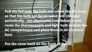 A easy way to make a window air conditioner run colder
