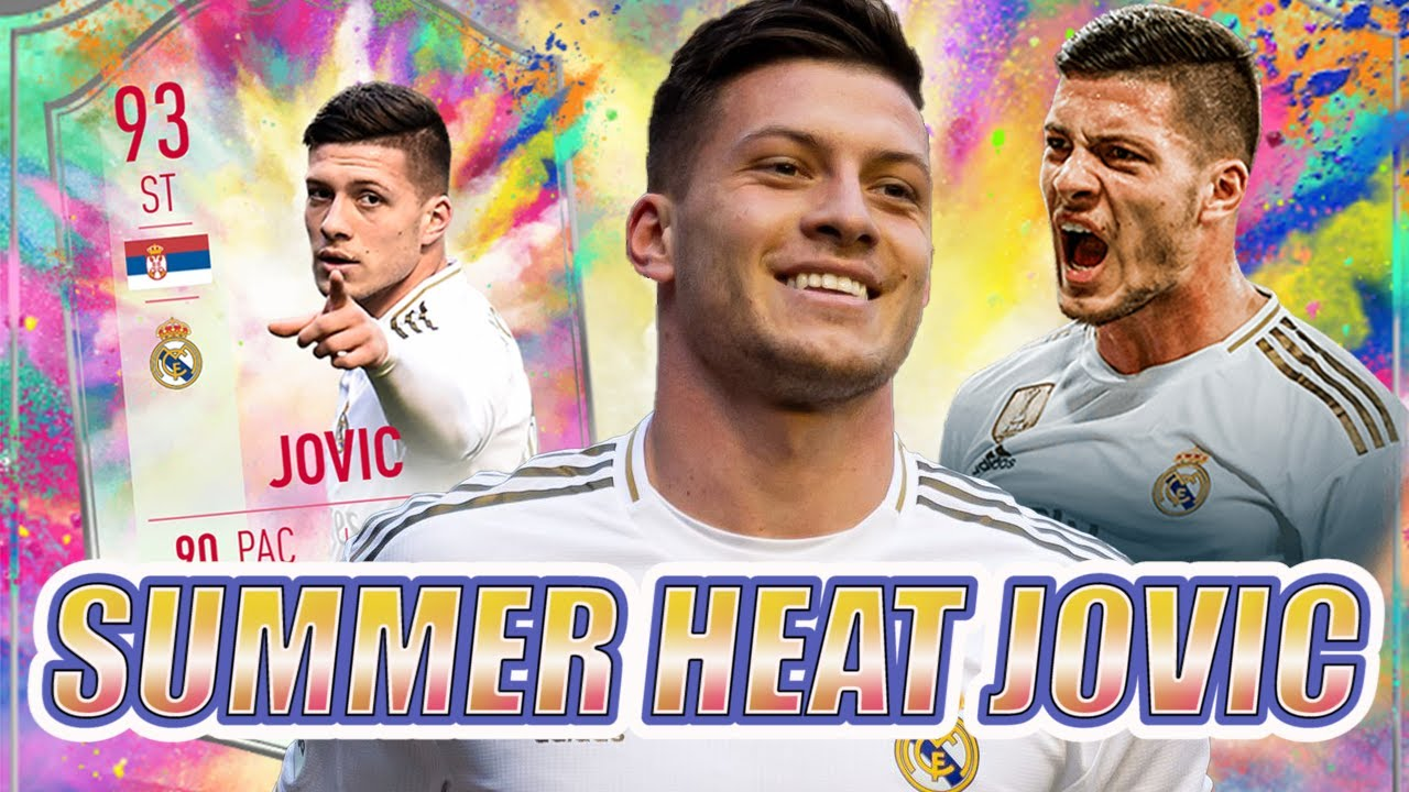 93 Summer Heat LUKA JOVIC FIFA 20 Player Review - YouTube