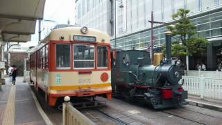 """伊予鉄道 坊っちゃん列車の旅(道後温泉⇒松山市駅前) """"Bocchan Train"""" Ride"""