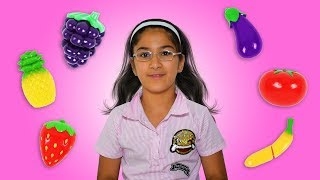 Learn Colors with Cutting Fruit and Vegetables With Malak - Fruit & Vegetables Toys for Children