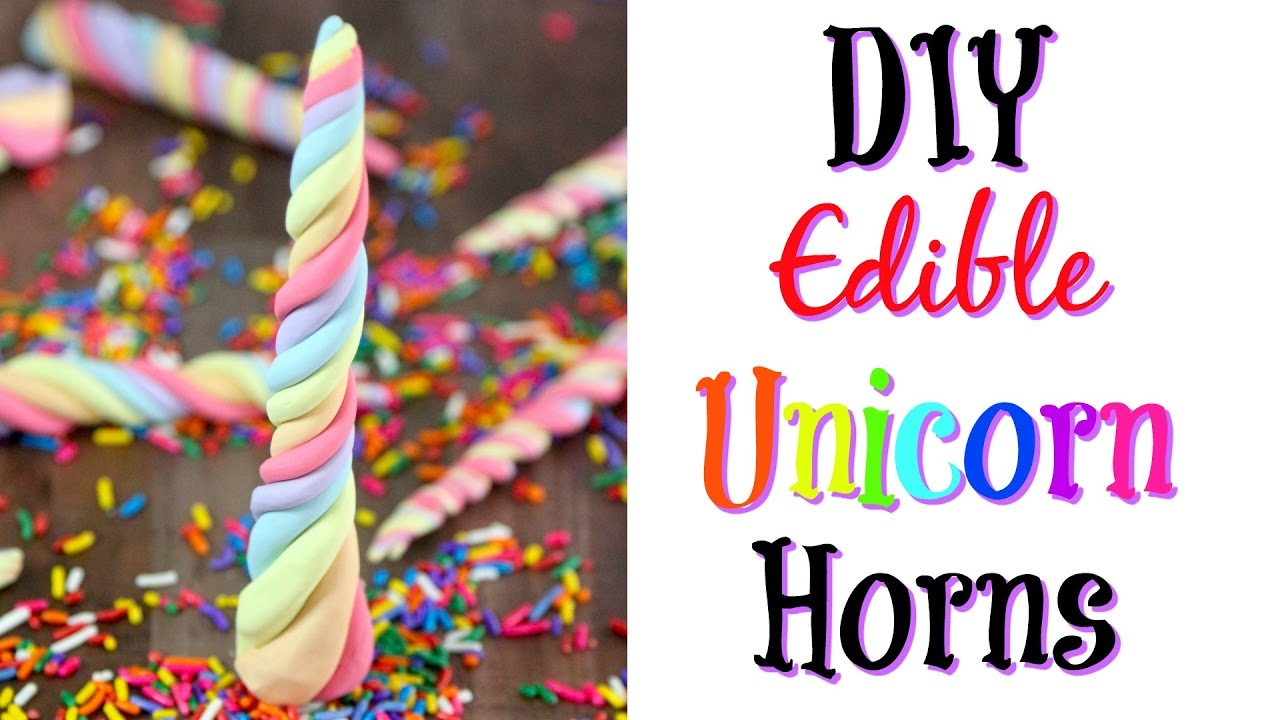 Diy Edible Unicorn Horns Recipe Nerdy Treats Ep 8 Some Of This