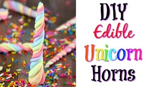 DIY Edible Unicorn Horns Recipe | Nerdy Treats Ep. 8 | Some of This and That