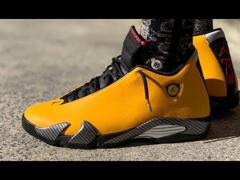 air 14 yellow gs retro sneaker