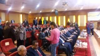 زيارة النائب العام لقناة السويس الجديدة وشرح من الفريق مميش عن القناة ومعدلات العمل بها
