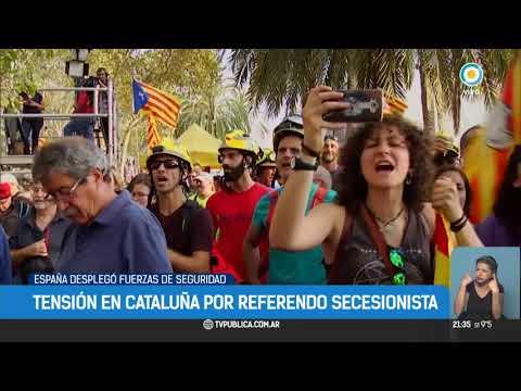 Tensión en Cataluña: España despliega fuerzas de seguridad