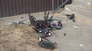 Russian postal drone crashes into wall on maiden flight