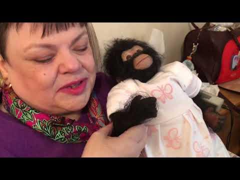 Monkey Tricks with Reborn Baby Chimp Babsy.