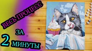 Картина по номерам / ВЕСЬ ПРОЦЕСС / Paint by numbers DIY