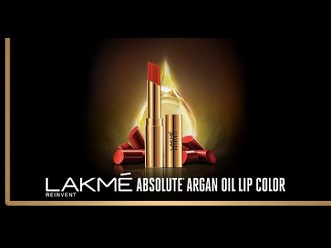 Introducing Lakmé Absolute Argan Oil Lip Color