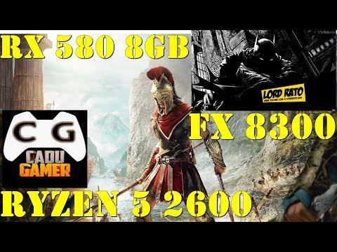 Meu FX 8300 VS Cadu Gamer  RYZEN 5 2600 - Assassin Creed Odyssey