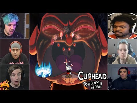 Gamers Reactions to the Devil (BOSS) Crying  | Cuphead
