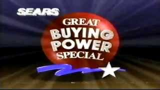 March 1990 Sears commercial great buying power Thumbnail