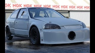 Honda Civic EJ9 Runs In The 10's With a N/A K24 Engine