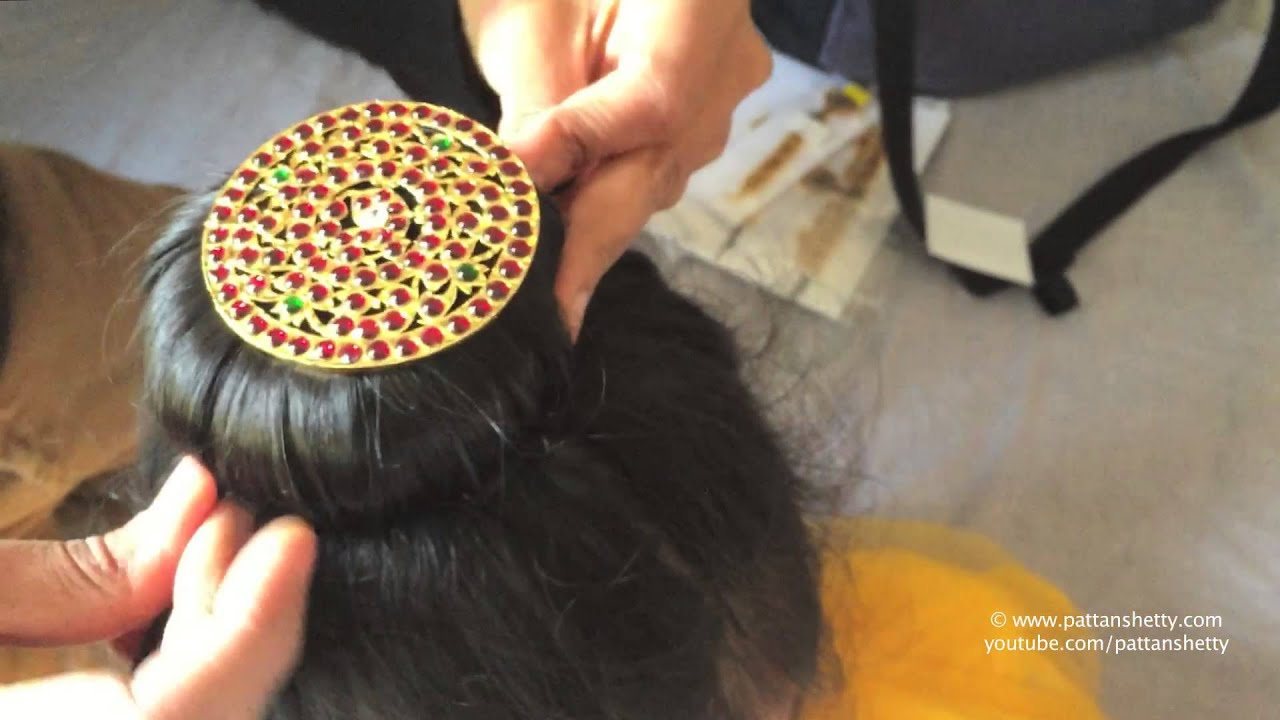 How To Tie Hair Bun With Rakodi ಮಬ ಡ Donut For