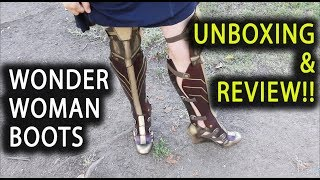 Wonder Woman Boots Unboxing & Review!