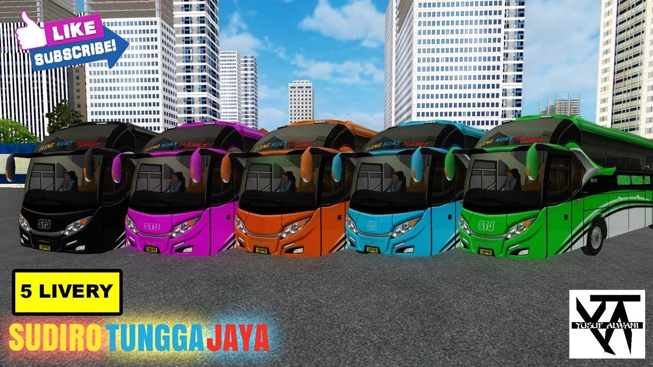 5 LIVERY ARJUNA XHD BUS SUDIRO TUNGGA JAYA.. REVIEW LIVERY BUS SUDIRO TUNGGA JAYA BUSSID #1