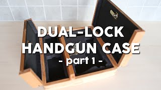 Dual-lock handgun case The Belgian law requires the gun to be locked separately from the ammo during transport, but carrying ...