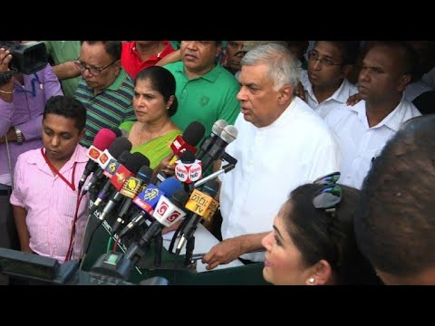 AFP news agency: Sri Lankan deposed prime minister's supporters protest