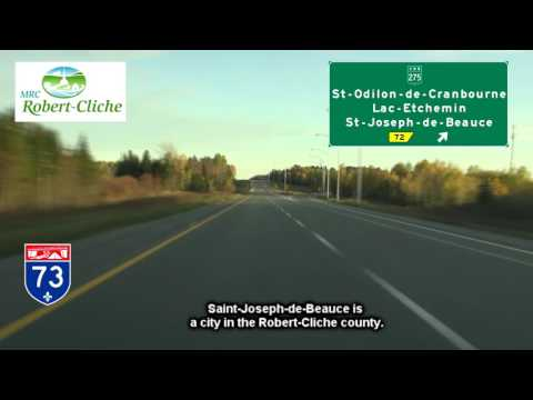 Autoroute 73, Ste-Marie to St-Georges, Beauce, Quebec