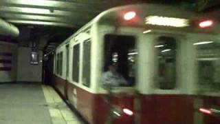 Outbound MBTA Red Line train at Andrew