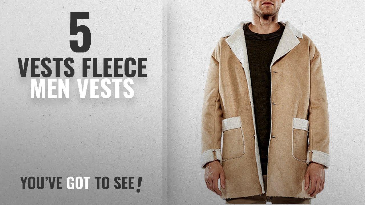 b5d3d47336c6 Top 10 Vests Fleece Men Vests [Winter 2018 ]: Zuckerfan Men's Casual Retro  Winter Warm Lapel Fuax
