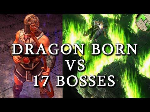 Titan Quest Atlantis| The DRAGONBORN build VS 17 BOSSES! |