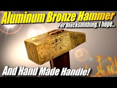 DIY Aluminum Bronze Hammer: Golden hammer for Black Smithing